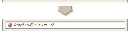 Step2:ひざ下マッサージ